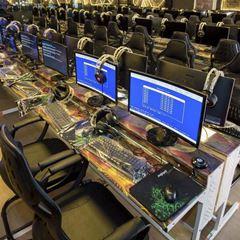 Bàn ghế dàn net cũ Hải Phòng máy tính TRI GIAO - mua bán phòng dàn net cũ thanh lý tại Hải Phòng - bàn net bootroom mặt kính dàn net cũ